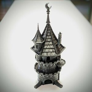 Wizard Dice Tower by Fates End - Gloss Black | 3D printed