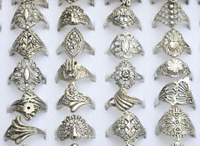 20PC Wholesale Lots Jewelry Mixed Style Tibet Silver Vintage Rings Free Ship NEW
