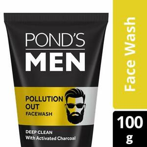 Pond's Men Pollution Out Activated Charcoal Deep Clean Face Wash, 100 g