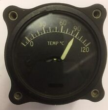 Vintage Thomas edison aircraft temperature indiator gauge P109-C125