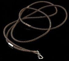 Antique Hairwork long chain, Victorian, 9ct gold