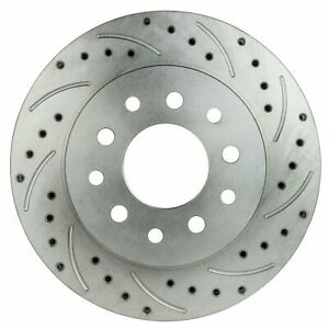 Right Stuff BR19ZDC Ford 9 Rear Conversion Brake Rotors Drilled/Slotted Zinc Was