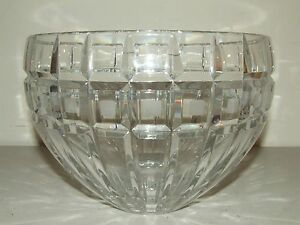 "Beautiful Huge Heavy Waterford ""Marquis"" Glass Crystal Centerpiece Bowl Ireland"