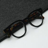 Retro solid acetate eyeglasses frame mens Dark tortoise black square RX glasses