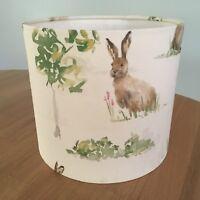 Handmade Lampshade Ashley Wilde Hare Fabric British Countryside Hares Animals