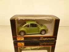 MAISTO 21001 VW VOLKSWAGEN NEW BEETLE - GREEN 1:38? pull back - VERY GOOD IN BOX