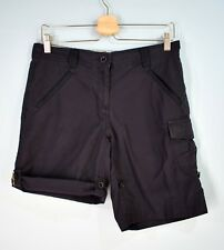 LANDS' END Women's Cargo Shorts Roll Leg Cotton Nylon 6P Midnight Navy 6 Petite