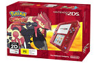 Nintendo 2DS Transparent Red console + Pokemon Omega Ruby *NEW* + Warranty!