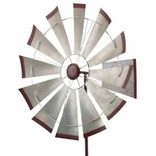 "Regal 32"" Kinetic Stake - Galvanized Windmill"