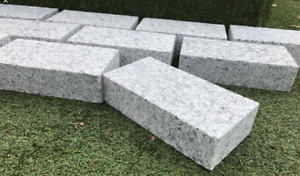 Silver Grey Granite Cobble Setts 200x100 Sawn Edge 1m2 Collected Driveway Edging