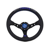 13inch 330mm Deep Dish Blue Tuning Drifting Sport Racing Steering wheel VERTEX