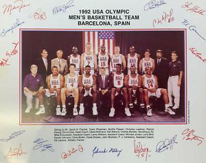 "1992 USA OLYMPIC MEN'S BASKETBALL TEAM PHOTO - 8"" X 10"""