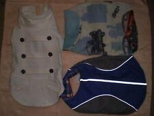 Lot of 3 Dog Pet Fleece Winter Jacket Coats Top Reflective Paw Sweaters M used