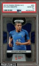 2018 Panini Prizm World Cup Kylian Mbappe PSA 10 Gem Mint Rookie RC #80