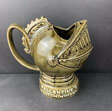 """Ballantine's Scotch Whisky Ceramic Knights Helmet Pitcher Jug Stein- 7.25"""""""
