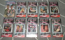 Lot of 30 sealed original Star Trek HiFi VHS videotapes, 1985 Paramount, MINT