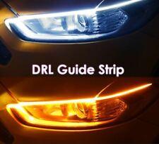 2X DRL Daytime Running Light Guide CarTurn Signal LED Strip Waterproof Flexible
