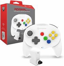 """Hyperkin """"Admiral"""" Premium BT Wireless Controller for N64 Nintendo 64 - White"""