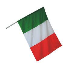 LOTTO STOCK 10 BANDIERE BANDIERINE ITALIANE ITALIA TRICOLORE CON ASTA 45 X 30 CM