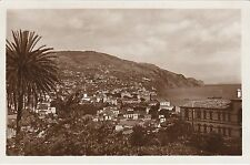 PORTUGAL MADEIRA VIEW FROM BELA VISTA HOTEL REAL PHOTO POSTCARD