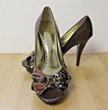 BCBG Paris PETRA Brown Patent Leather Stiletto High Heel Platform Pumps Shoes 8B