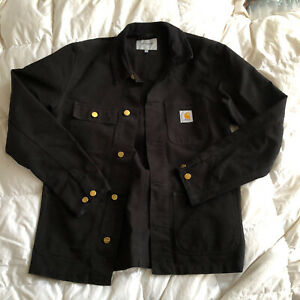 Carhartt Mens Black Unlined Canvas 'WIP Michegan' Jacket M Worn Once