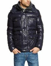 BNWT PEPE BLUE ROTOR DOWN JACKET + REMOVABLE NECK WARMER XL FREE P&P RRP £259