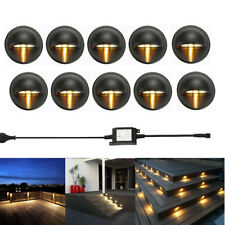 10Pcs LED Deck Step Stair Light Outdoor Landscape Yard Lighting Low Voltage Kit