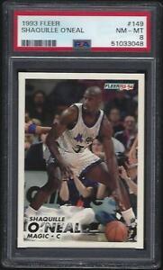 1993 Fleer #149 Shaquille O'Neal HOF PSA 8 NM-MT Lakers New Slab Centered