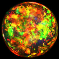10MM ROUND TOP SUPER RAINBOW ELECTRIC ETHIOPIAN FIRE WELO OPAL WHOLESALE PRICE