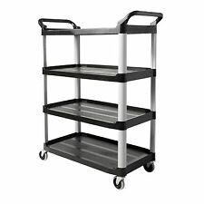 Rubbermaid Commercial Products Heavy Duty 4-Shelf Rolling Service/Utility Cart