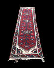 Worn Country House Runner, Superb Quality. 295 X 70 Cms