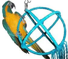 Large Blue Parrot Orbit Swing Toys Perches