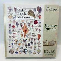 Shells of the Florida Gulf Coast Heritage Jigsaw Puzzle PERFECT CONDITION!!