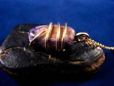 Grape Purple Russian Chaorite Pendant Bronze Merlin's Gold #44