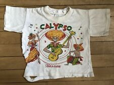 Vintage Kids Toddler 50s 60s Calypso Bahamas T-Shirt Souvenir Tourist Damaged