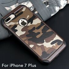 iPhone 7 Plus Army Green Shockproof Drop Protective Case Military Camo Cover