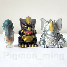 TOHO Ultraman Mini Figure Finger Puppet Set of 3 Pcs. black king Sartan