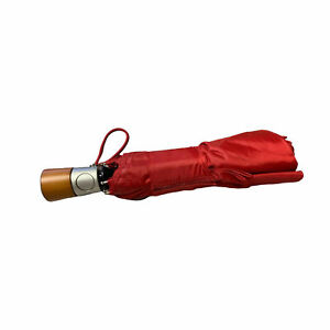 Totes Auto Open/Close Umbrella 43 in. with Wooden Handle