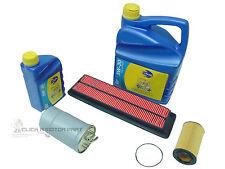for HONDA ACCORD 2.2 CTDi  OIL AIR FUEL DIESEL FILTER &6L ENGINE OIL SERVICE KIT