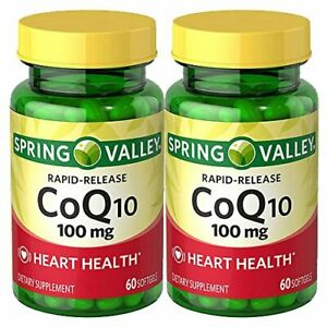 Spring Valley Co Q-10 100mg Heart Health Supplement 120 Softgels