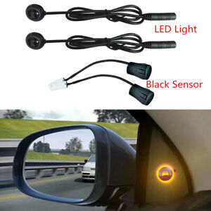 Black Ultrasonic Sensor Car Blind Spot Detection Alarm Kit Backup Driving Helper