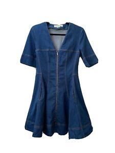 stella mccartney denim dress authentic 40