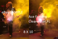 Kiss 2017Ace Frehley Lot Of 2 8 X 10 Color Photos Clearwater,FL Les Paul Smokin