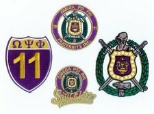OMEGA PSI PHI Patch Set - Set of 4 - crest / shield / road sign