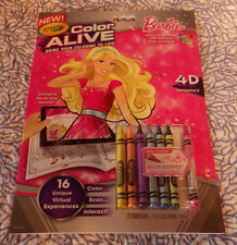 Barbie Crayola Color Alive Action Coloring Pages Book 4D New Show Stopper