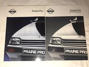 Prospekt Reklame Werbung Nissan Prairie Pro Auto Geschenk Broschüre Heft Rarität