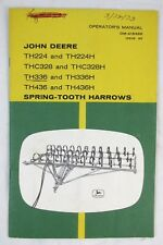 John Deere Operators Manual Th224 Thc328 Th336 Th436 Spring Tooth Narrows