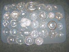 Clear glass Coasters Eapg Ashtrays