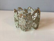 Large Metal Bracelet/Cuff - Elasticated